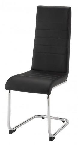 Evanston Black Leatherette Dining Chair Set of 4