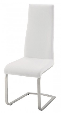 Geneva White Leatherette Dining Chair Set of 4