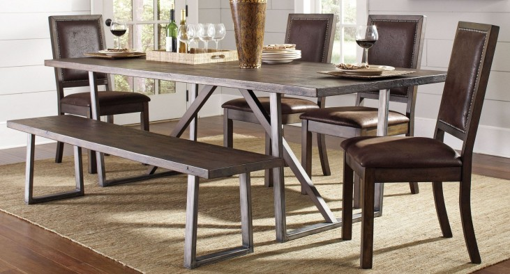 Genoa Wire Brushed Cocoa Rectangular Dining Room Set