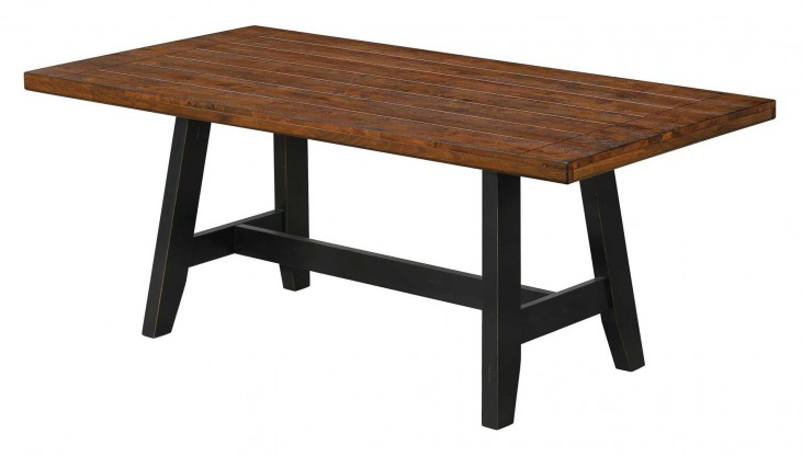Waller Hickory Top Rectangular Dining Table