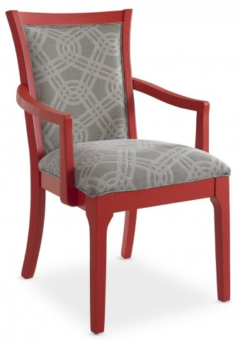 Open Seating Red Claudia Arm Chair