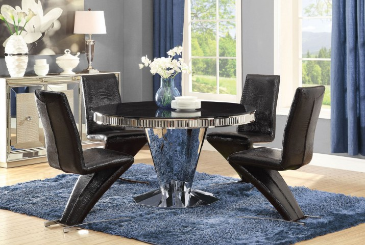 Barzini Stainless Steel Dining Room Set
