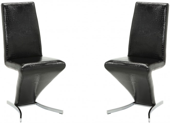 Barzini Black Side Chair Set of 2