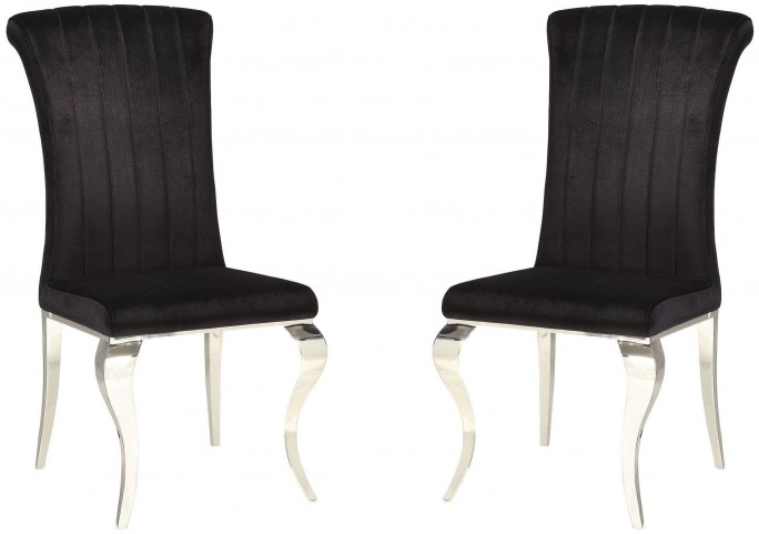 Carone Black Side Chair Set of 4