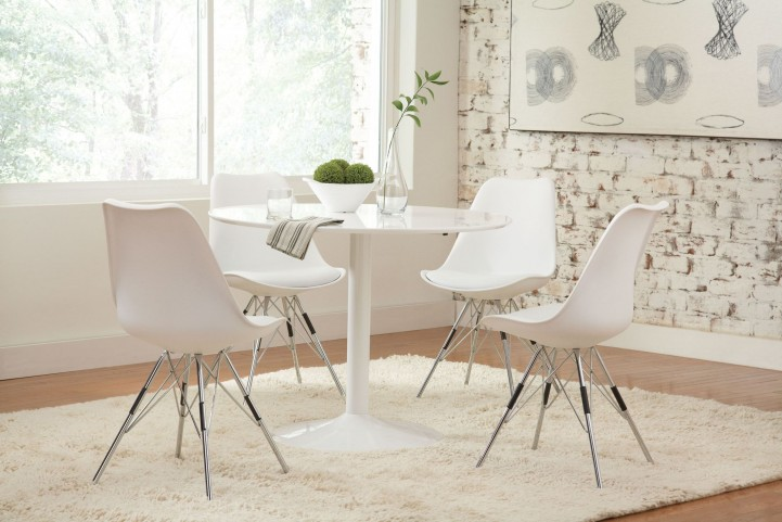 Lowry White Dining Room Set