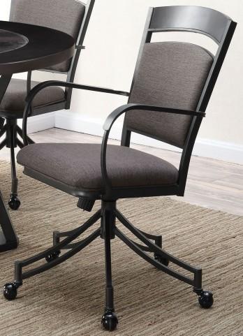 Ferdinand Grey and Dark Merlot Side Chair Set of 2