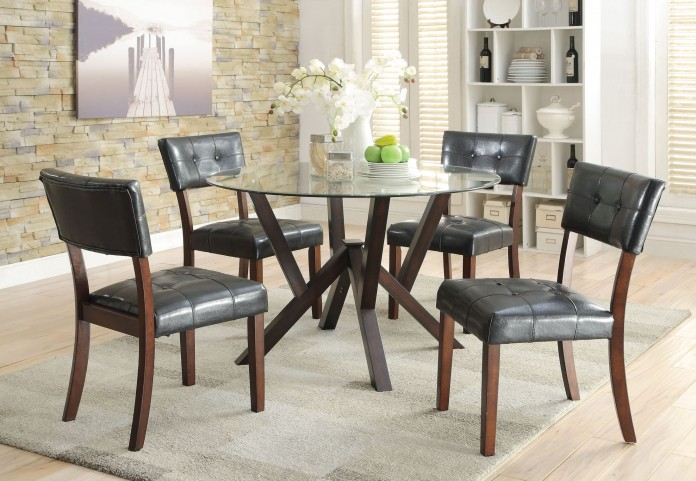 Beaux Cappuccino Round Dining Room Set