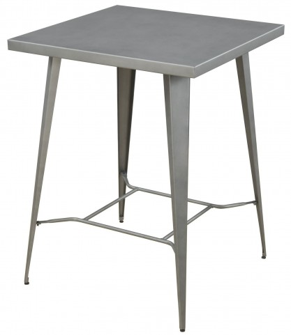 Light Gunmetal Bar Table