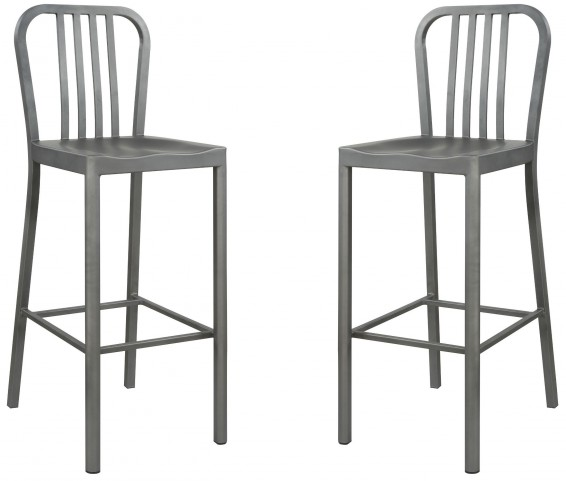 Black Ash Bar Stool Set of 2