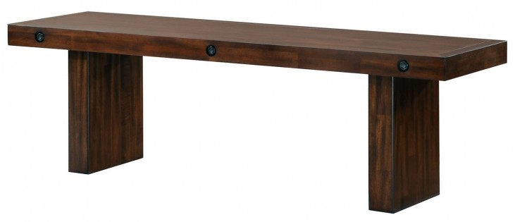 Montague Rustic Brown Bench