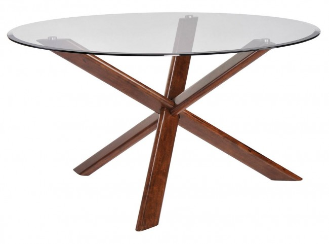 Barett Chestnut Round Dining Table