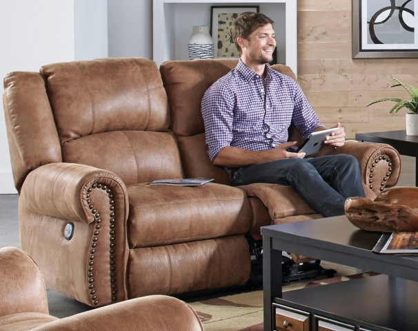 Westin Nutmeg Power Reclining Loveseat
