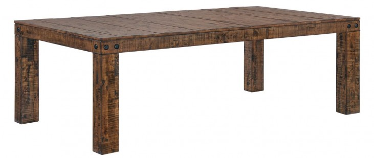 Murillo Rustic Honey Extendable Rectangular Dining Table