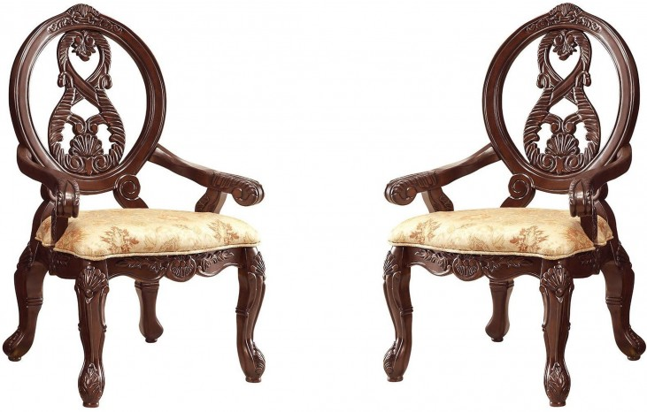 Jacques Dark Cherry Arm Chair Set of 2