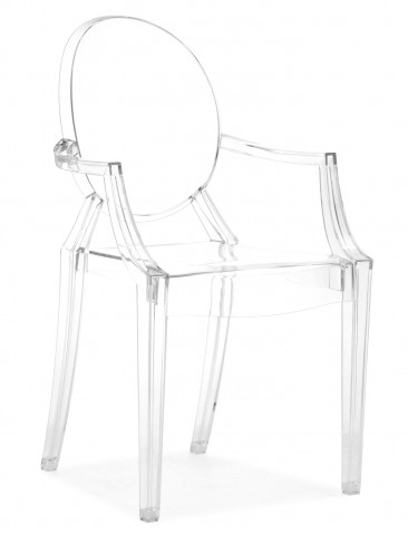 Anime Dining Chair Transparent Acrylic Set of 4