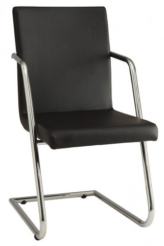 Avram Black Leatherette Dining Chair Set of 4
