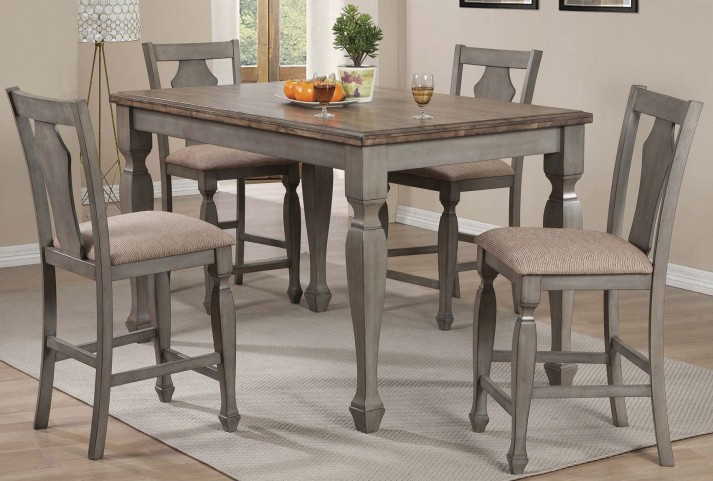 Riverbend White And Antique Counter Height Dining Room Set