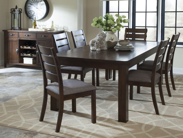 Wiltshire Rustic Pecan Dining Room Set