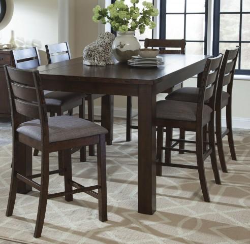 Wilshire Rustic Pecan Counter Height Dining Room Set