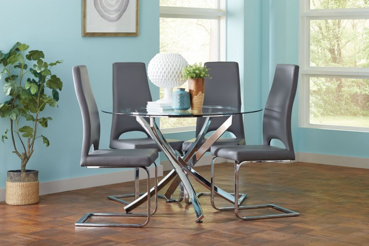 Augustin Chrome Dining Room Set
