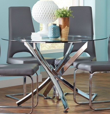Augustin Chrome Dining Table