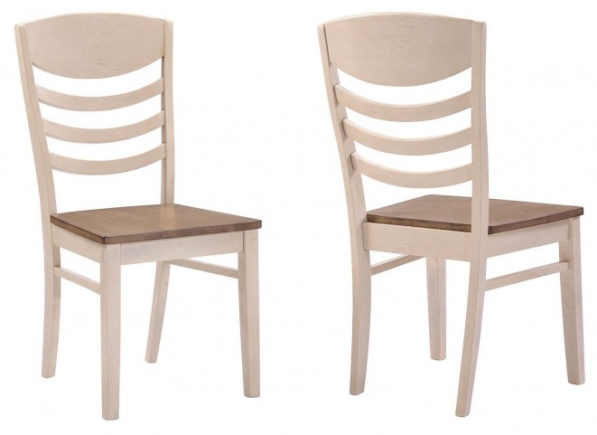 Allston Antique White Dining Chair Set of 2