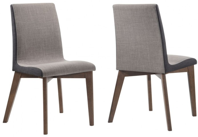 Redbridge Natural Walnut Dining Chair Set of 2