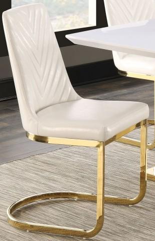 Cornelia High Gloss White Side Chair Set of 2