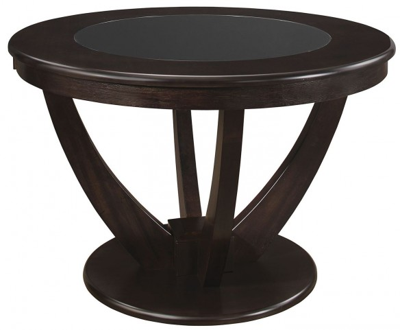 Stapleton Cappuccino Round Dining Table