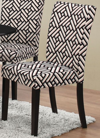 Dorsett Geometric and Black Side Chair Set of 2