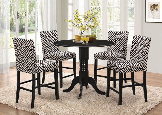 Dorsett Black Counter Height Dining Room Set