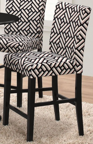 Dorsett Geometric and Black Counter Height Stool Set of 2