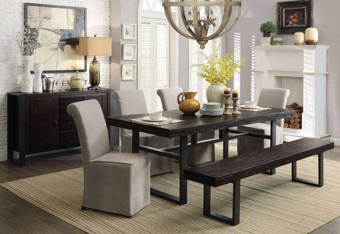 Keller Reclaimed Wood Dining Room Set