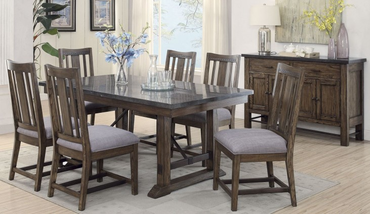 Willowbrook Gunmetal Dining Room Set