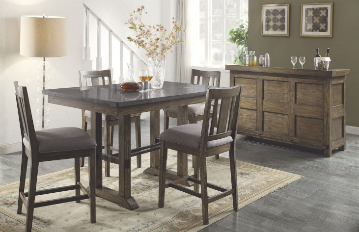 Willowbrook Rustic Ash Counter Height Dining Room Set