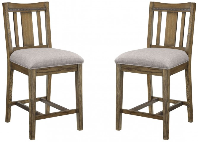 Willowbrook Rustic Ash Counter Height Chair Set of 2