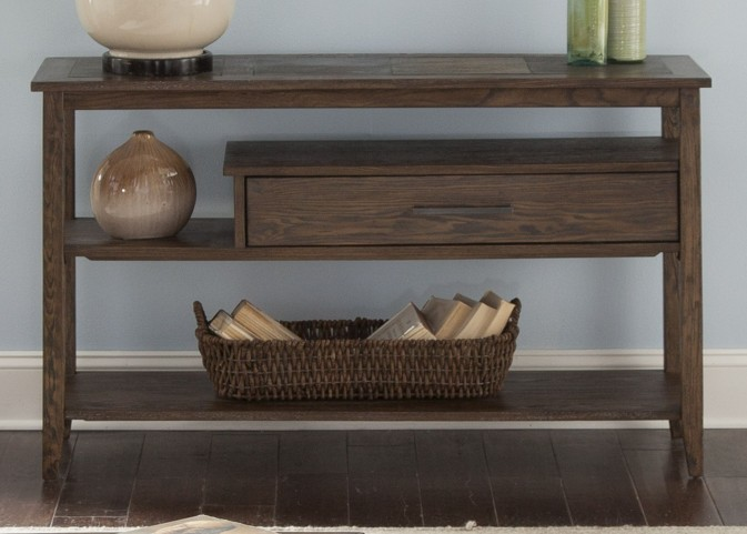 Brookstone Weathered Oak Sofa Table