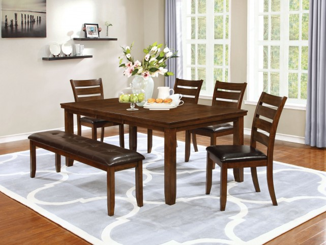 Maxwell Golden Brown Dining Room Set