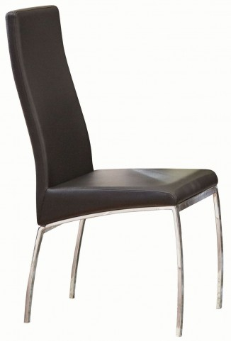 Bellini Black and Chrome Side Chair Set of 2