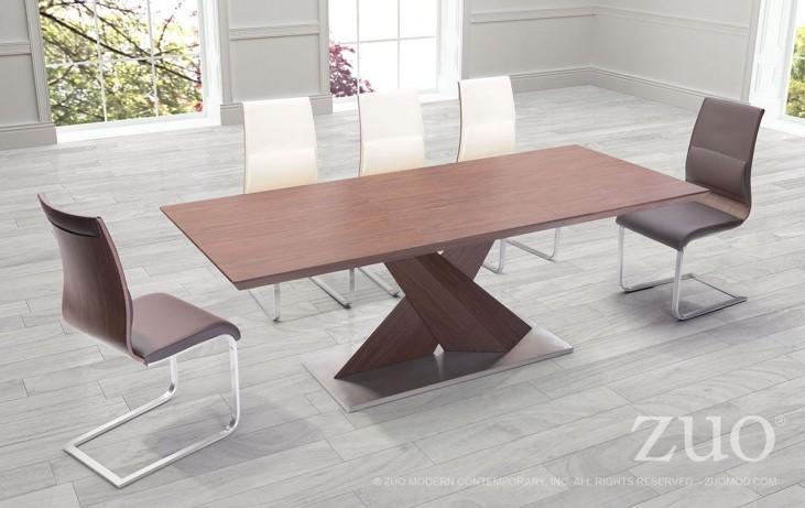 Jaques Walnut Extendable Rectangular Dining Room Set