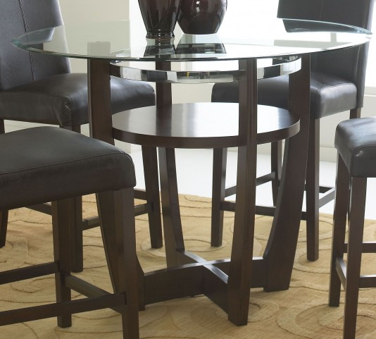 Apollo Rich Merlot Round Counter Height Table