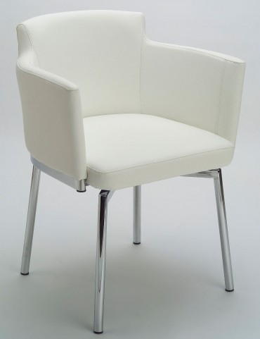 Garcia White Swivel Chair