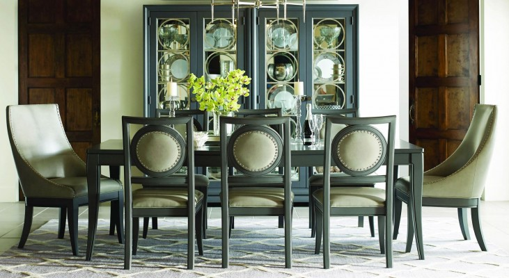 Tower Suite Moonstone Extendable Rectangular Leg Dining Room Set