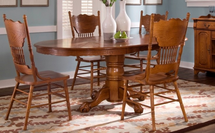 Nostalgia Single Pedestal Dining Set