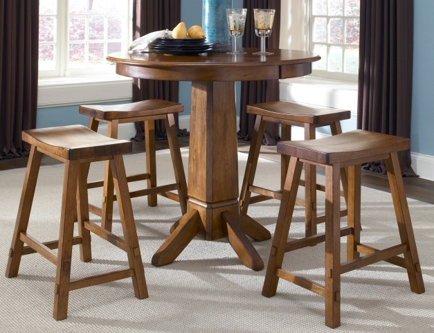 Creations II Tobacco Pub Dining Room Set
