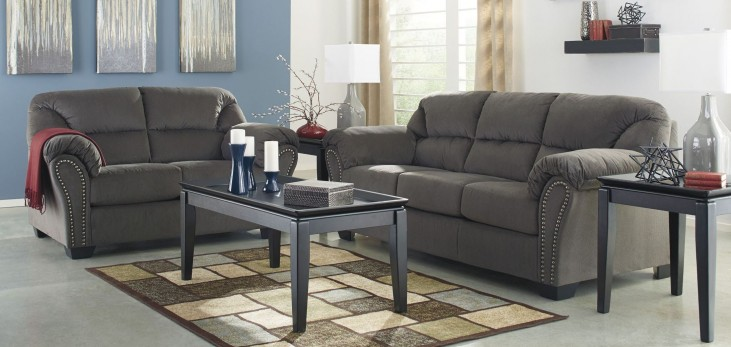 Kinlock Charcoal Living Room Set