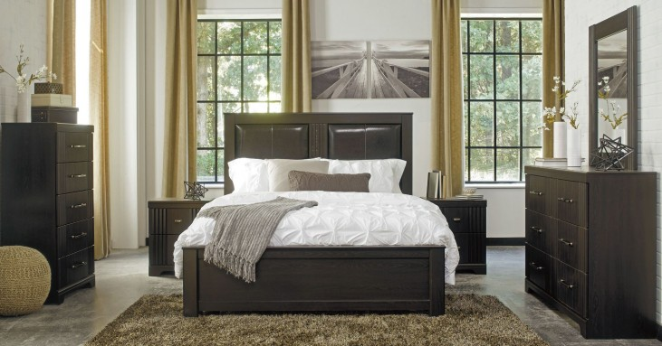 Tadlyn Dark Brown Panel Bedroom Set
