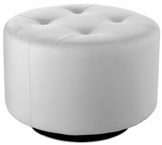Domani White Large Swivel Ottoman