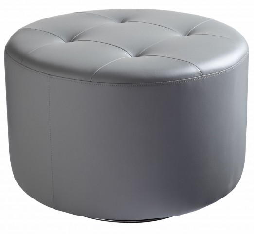 Domani Grey Large Swivel Ottoman