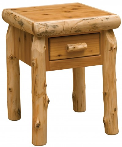 Traditional Cedar One Drawer Nightstand